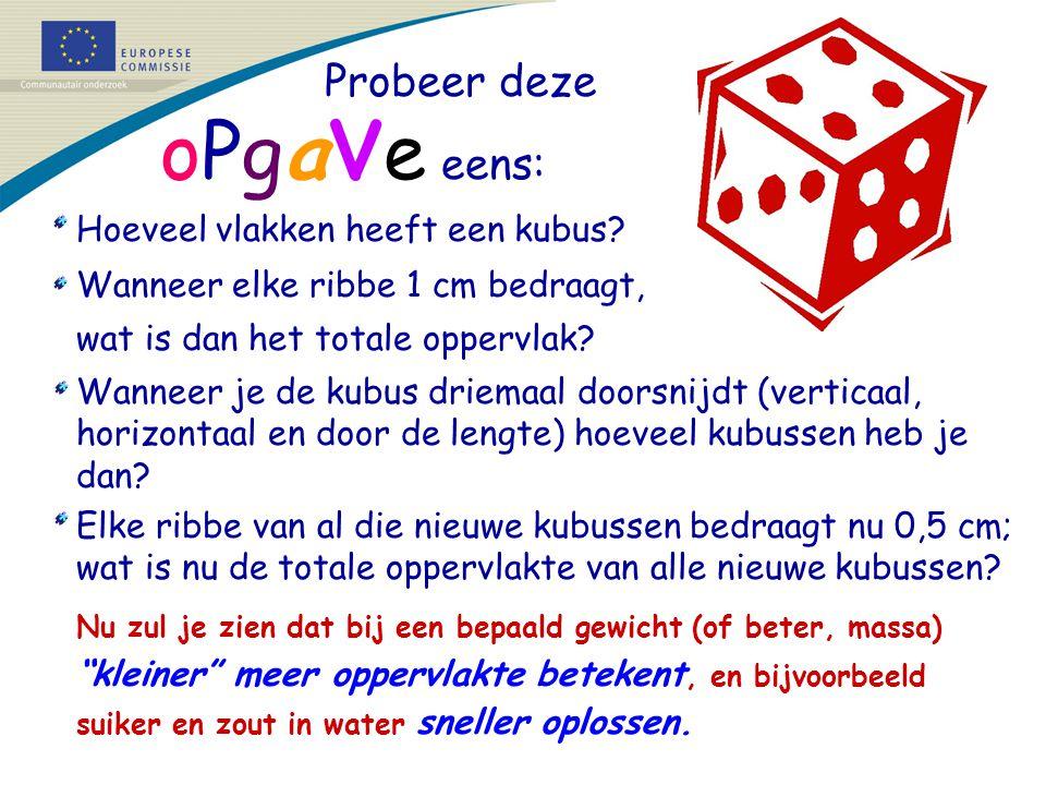 Probeer deze oPga v e eens: Hoeveel vlakken heeft een kubus.