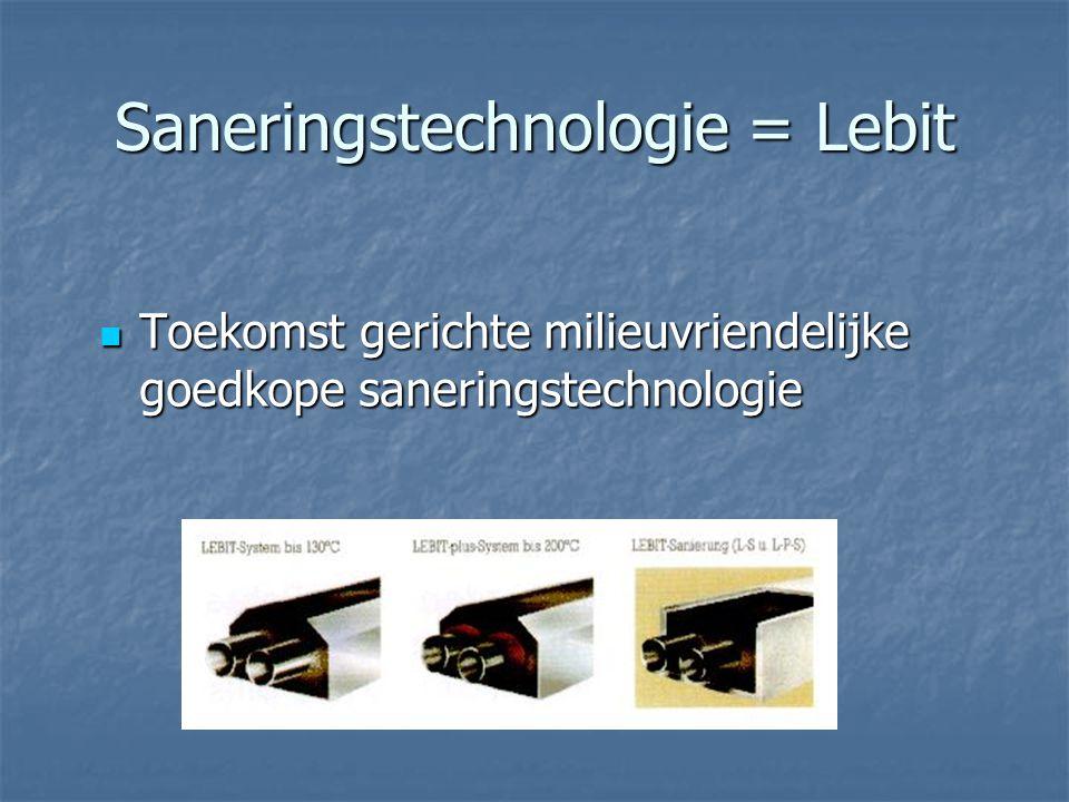 Saneringstechnologie = Lebit Toekomst gerichte milieuvriendelijke goedkope saneringstechnologie Toekomst gerichte milieuvriendelijke goedkope saneringstechnologie