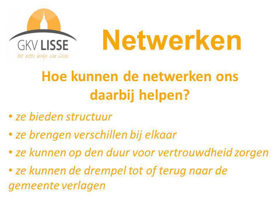 Hoe kunnen de netwerken ons daarbij helpen.