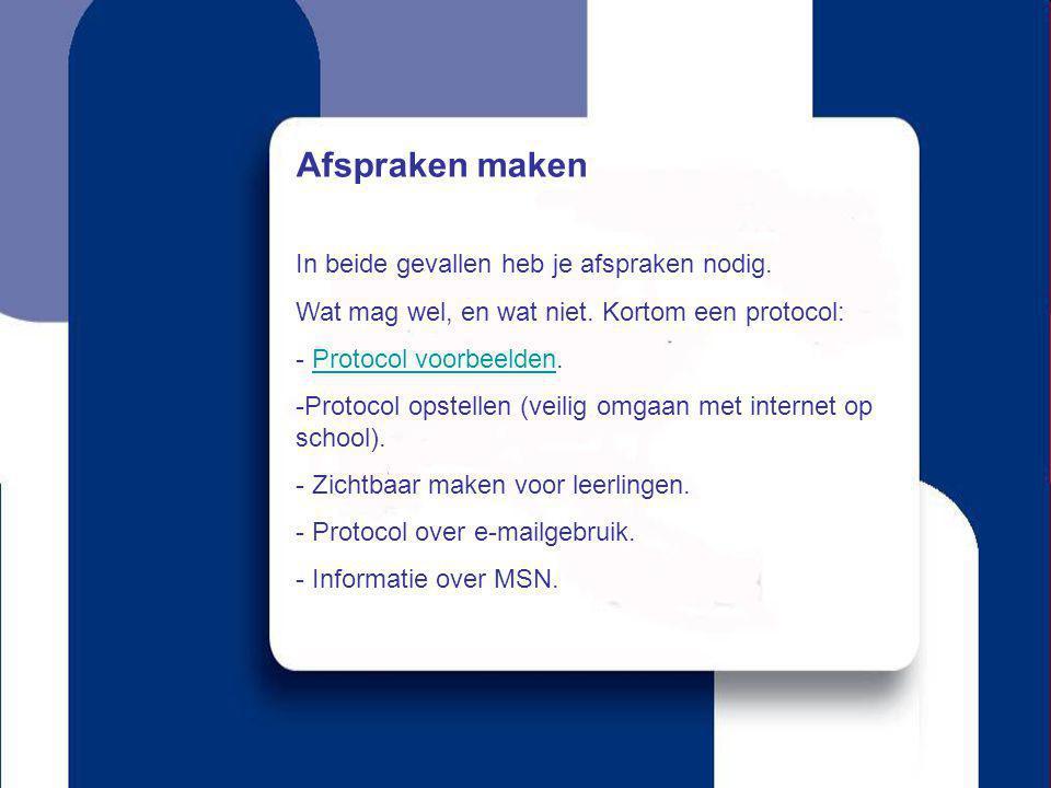 Ook het boek: Mijn leerling online Kun je goed gebruiken voor het maken van een internetprotocol.