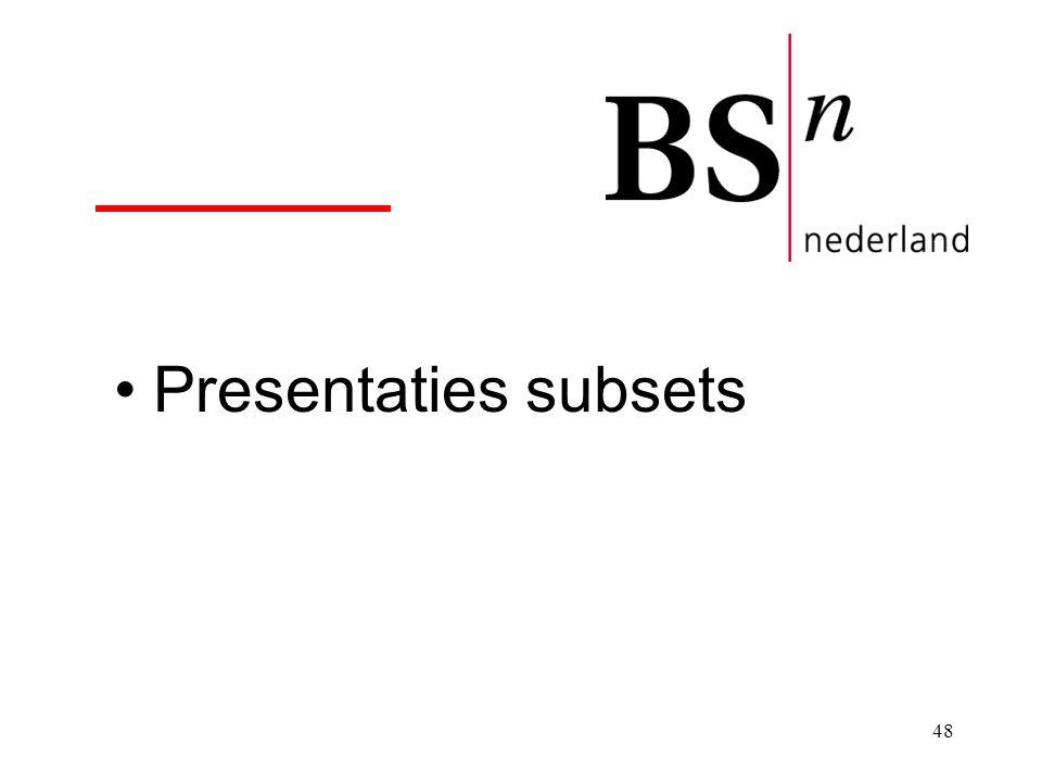 48 Presentaties subsets