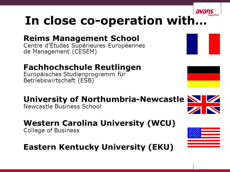 Reims Management School Centre d'Études Supérieures Européennes de Management (CESEM) Fachhochschule Reutlingen Europäisches Studienprogramm für Betri