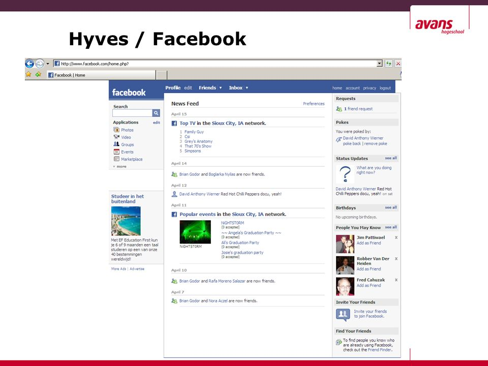 Hyves / Facebook