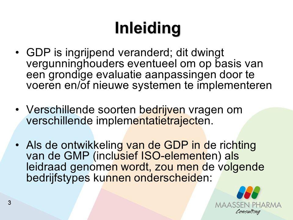33 Inleiding GDP is ingrijpend veranderd; dit dwingt vergunninghouders eventueel om op basis van een grondige evaluatie aanpassingen door te voeren en