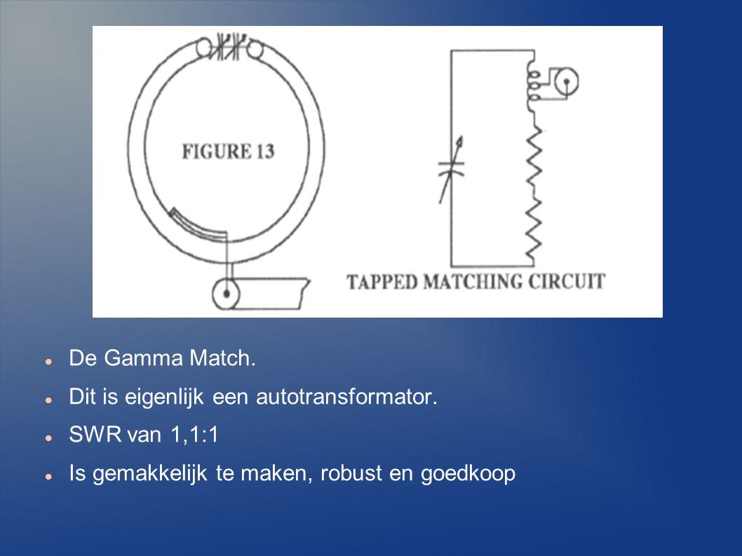 De Gamma Match.Dit is eigenlijk een autotransformator.
