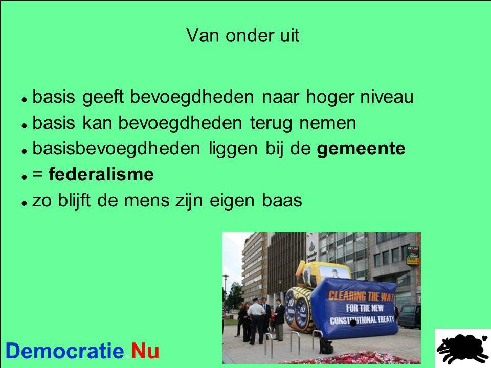 Democratie.Nu De gemeentelijke volksraadpleging  Hoge handtekeningen- en deelnamedrempel (max 20% v.d.