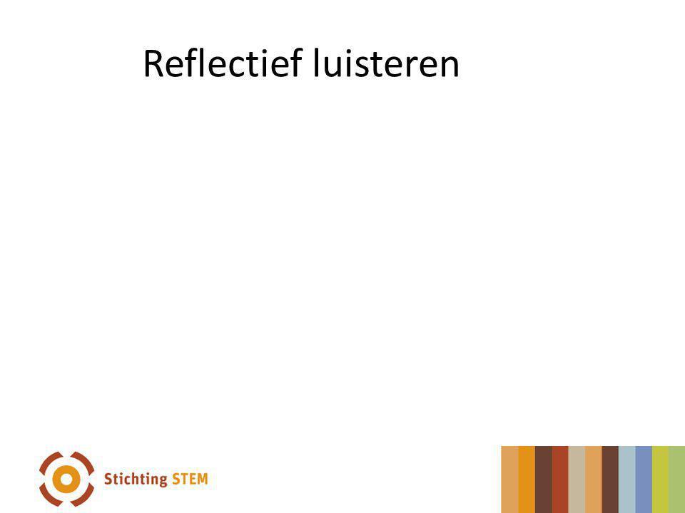 Reflectief luisteren