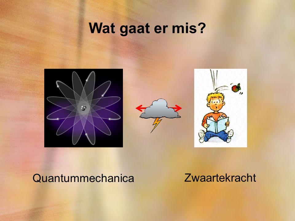 Wat gaat er mis? Quantummechanica Zwaartekracht