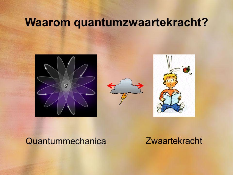 Waarom quantumzwaartekracht? Quantummechanica Zwaartekracht