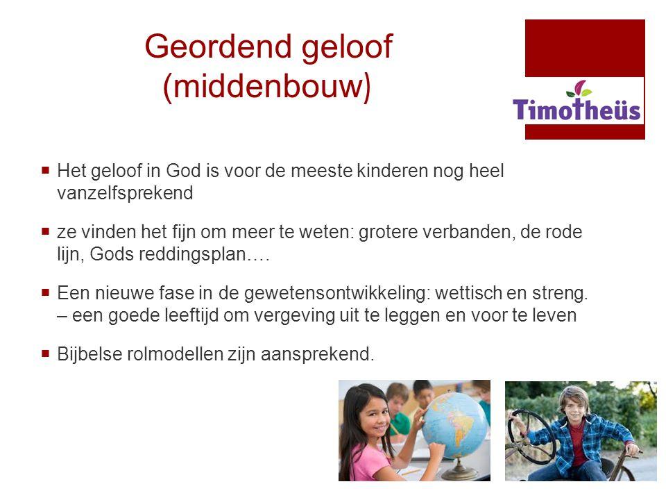 Geordend geloof (middenbouw )  Het geloof in God is voor de meeste kinderen nog heel vanzelfsprekend  ze vinden het fijn om meer te weten: grotere v