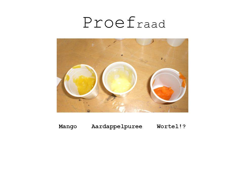 Proef raad Mango Aardappelpuree Wortel!?