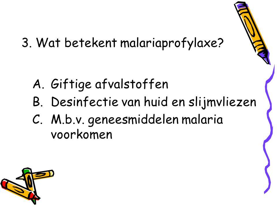 A.Giftige afvalstoffen B.Desinfectie van huid en slijmvliezen C.M.b.v.