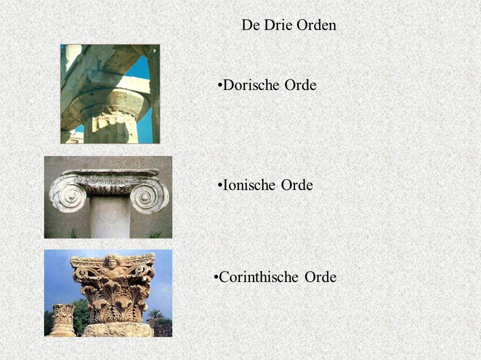 De Drie Orden Dorische Orde Ionische Orde Corinthische Orde