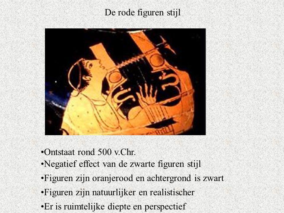 De rode figuren stijl Ontstaat rond 500 v.Chr.
