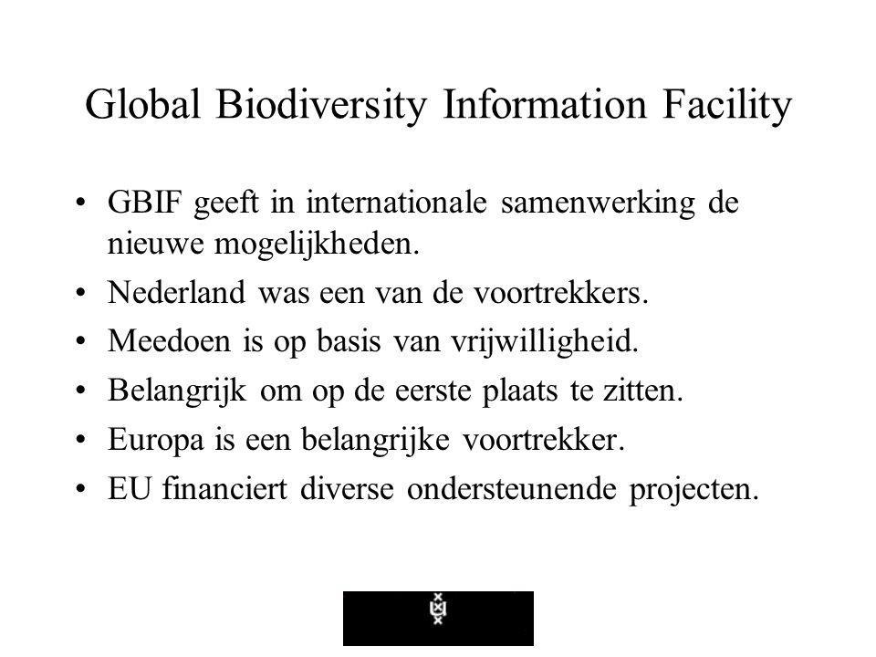 Global Biodiversity Information Facility GBIF geeft in internationale samenwerking de nieuwe mogelijkheden.
