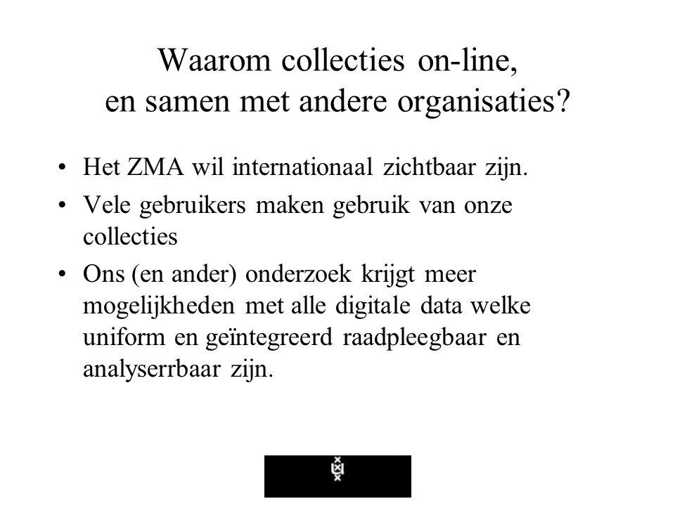 Waarom collecties on-line, en samen met andere organisaties.