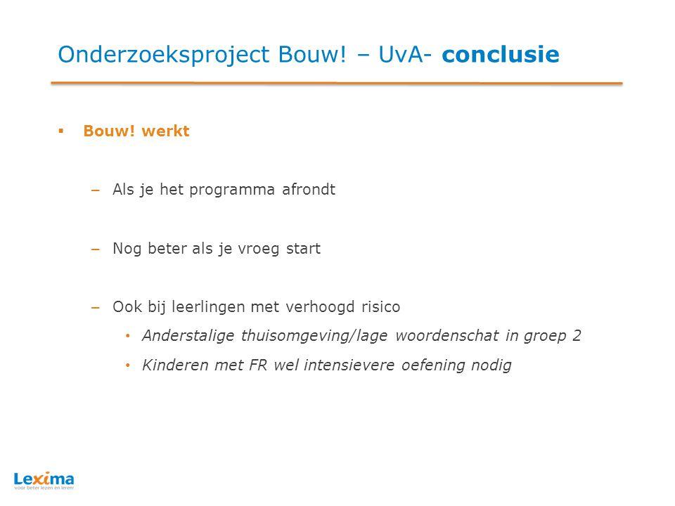 Meer informatie… Voor meer informatie over het programma Bouw.