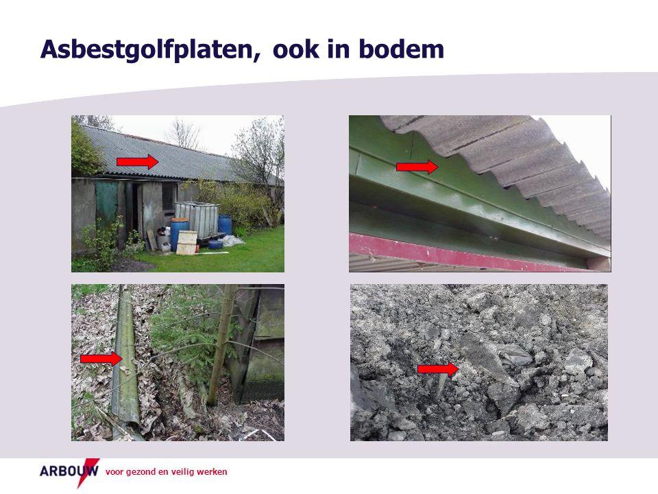 voor gezond en veilig werken Asbestgolfplaten, ook in bodem