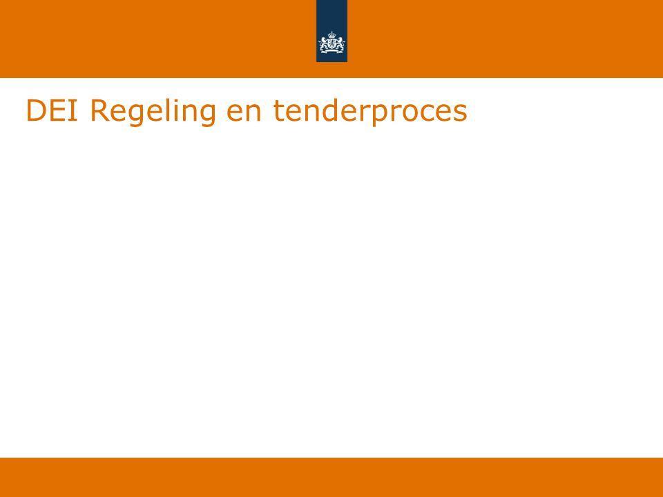 DEI Regeling en tenderproces