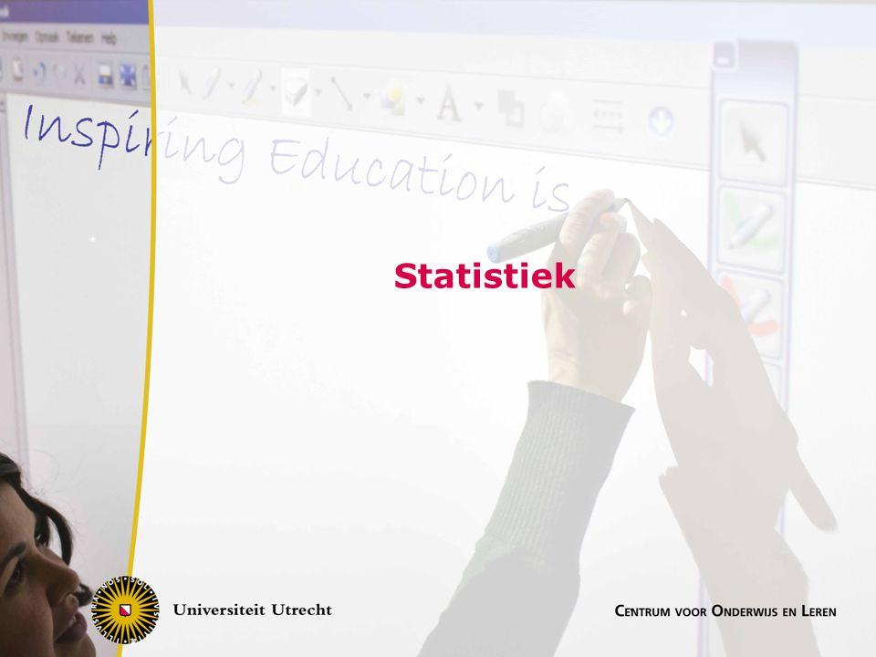 Centrale vraag Wat is een optimale leerlijn, waarbij de eindtermen aansluiten bij het gebruik van statistiek in vervolgopleidingen, de beroepspraktijk en de maatschappij Zie ook : Een vernieuwd statistiekprogramma, Anne van Streun, Carel van de Giessen, Euclides 82(5)