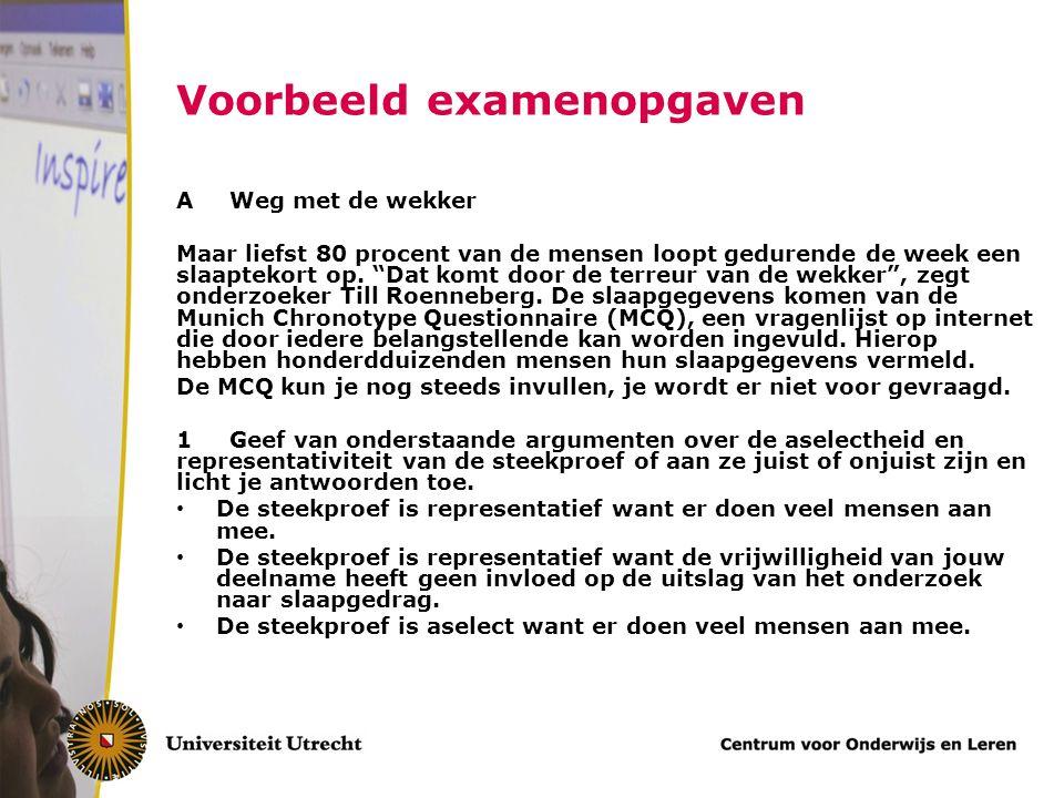 In figuur 1 zie je de verdeling van de gemiddelde slaapduur over de Nederlandse bevolking.