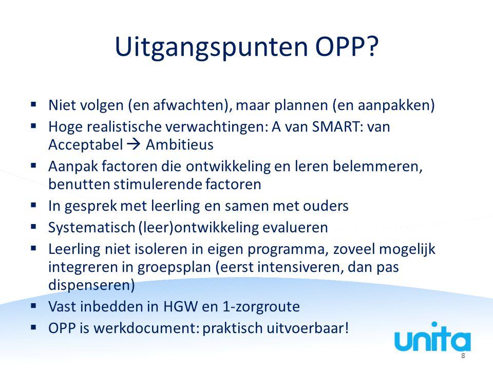 8 Uitgangspunten OPP.