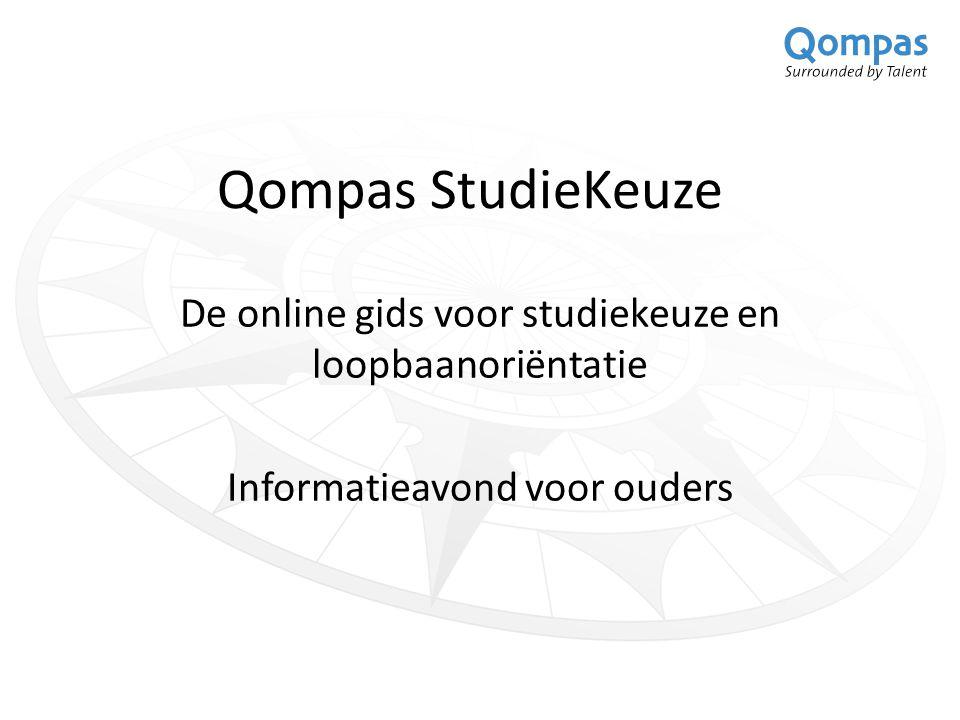 Qompas StudieKeuze De online gids voor studiekeuze en loopbaanoriëntatie Informatieavond voor ouders