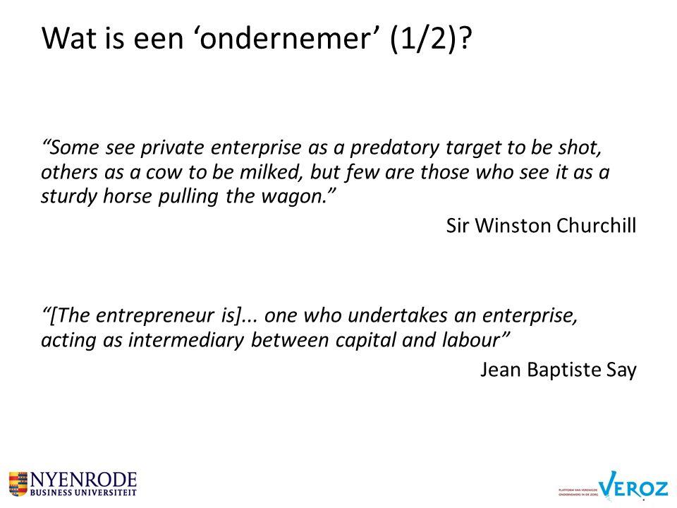 Wat is een 'ondernemer' (1/2).