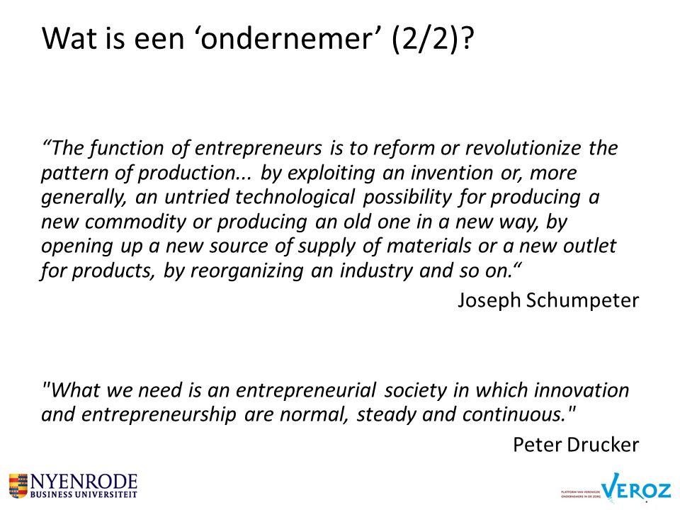 Wat is een 'ondernemer' (2/2).