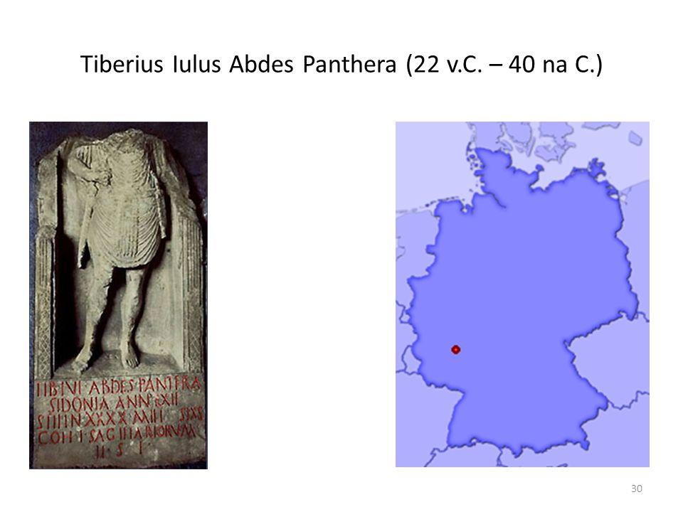 Tiberius Iulus Abdes Panthera (22 v.C. – 40 na C.) 30