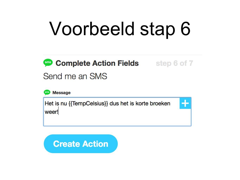 Voorbeeld stap 6