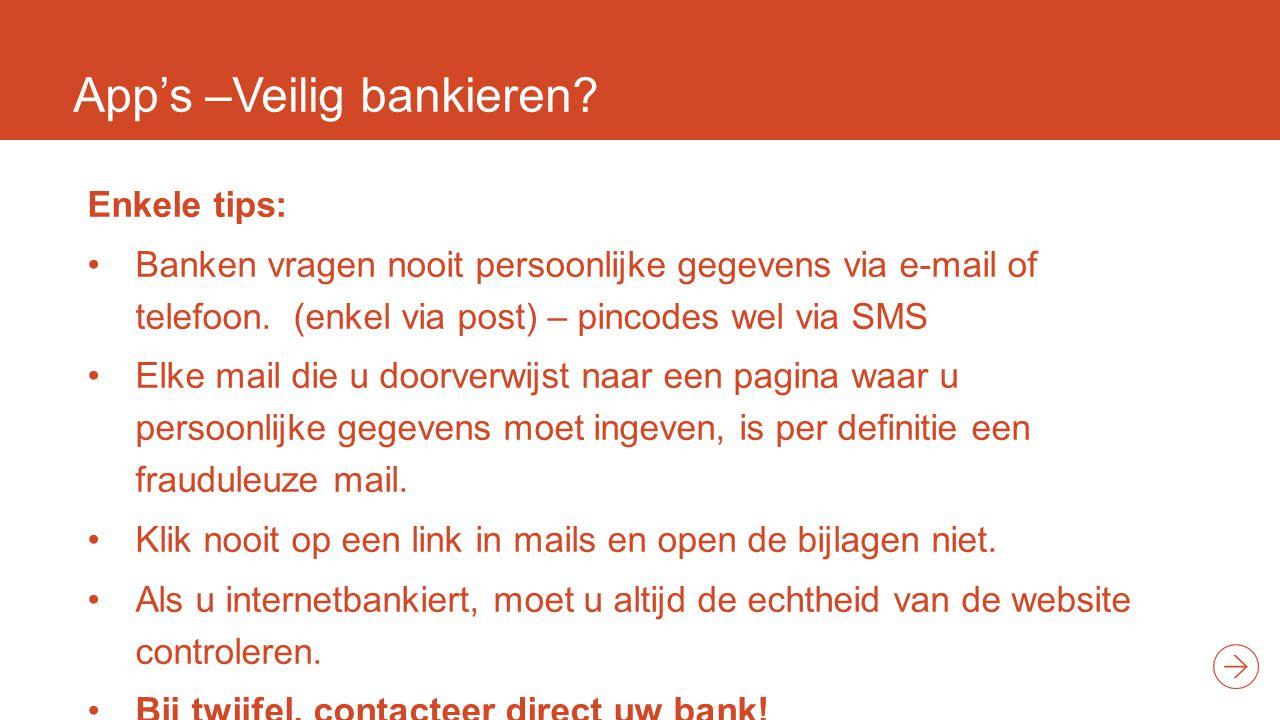 App's –Veilig bankieren.