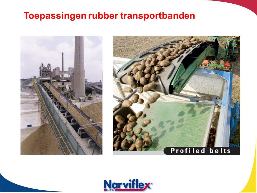 Toepassingen rubber transportbanden