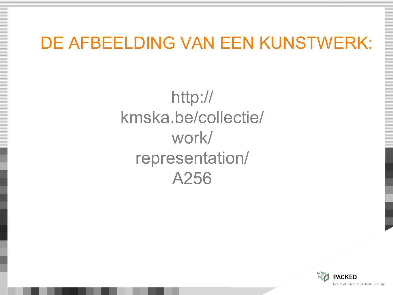 DE AFBEELDING VAN EEN KUNSTWERK: http:// kmska.be/collectie/ work/ representation/ A256
