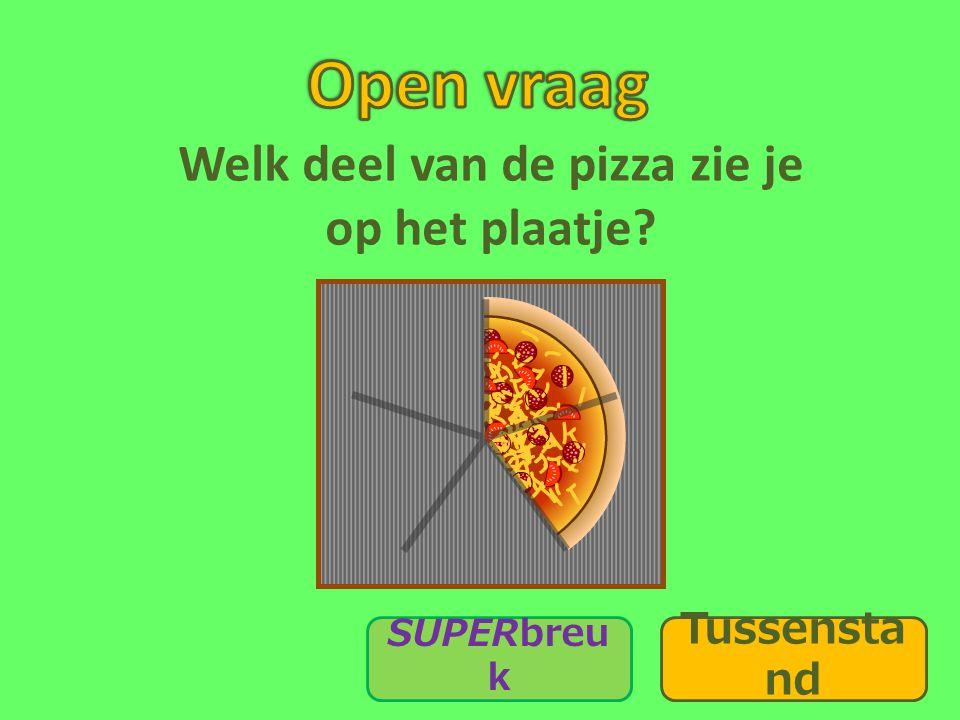 Welk deel van de pizza zie je op het plaatje? SUPERbreu k Tussensta nd