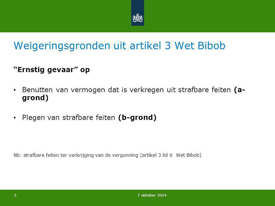 7 oktober 2014 Casus omzettingsvergunning De heer Jansen is woonachtig in de gemeente X.