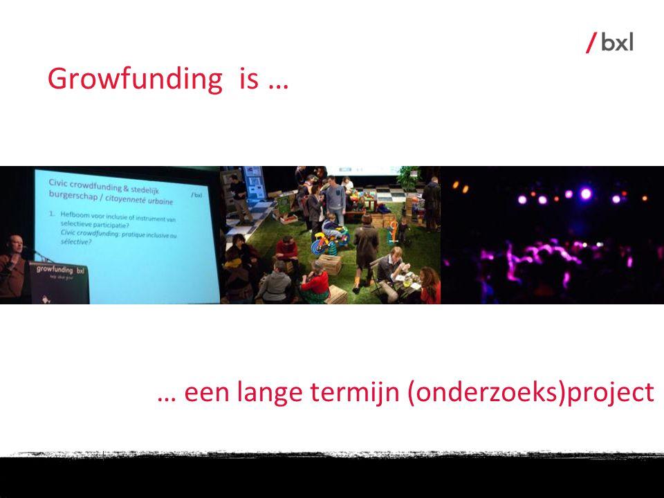 | … een lange termijn (onderzoeks)project Growfunding is …