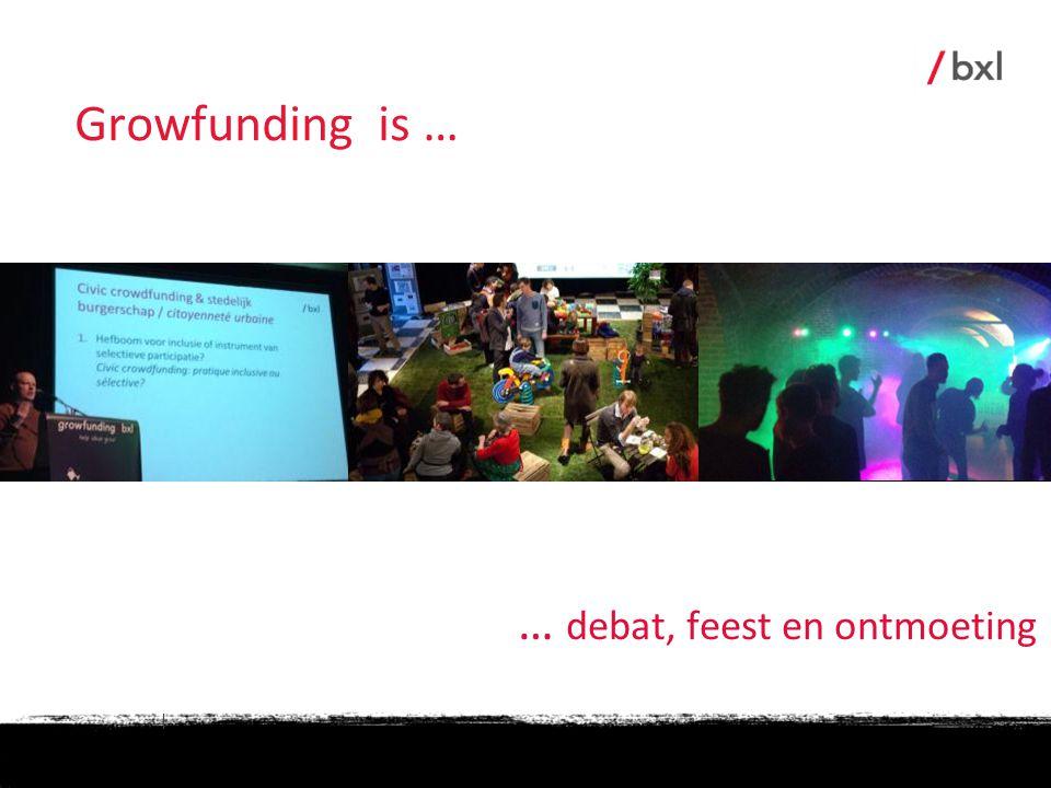| … debat, feest en ontmoeting Growfunding is …
