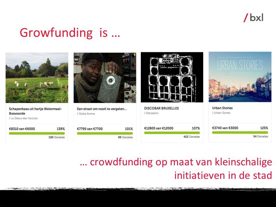 | … crowdfunding op maat van kleinschalige initiatieven in de stad Growfunding is …