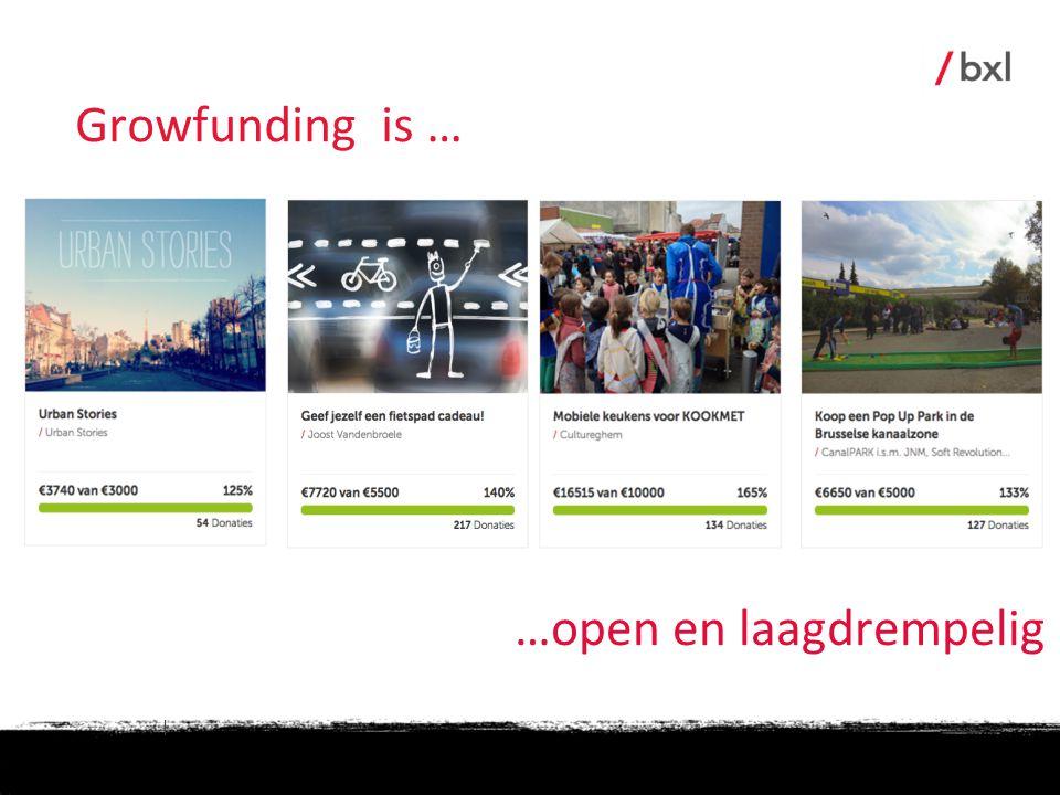 | …open en laagdrempelig Growfunding is …