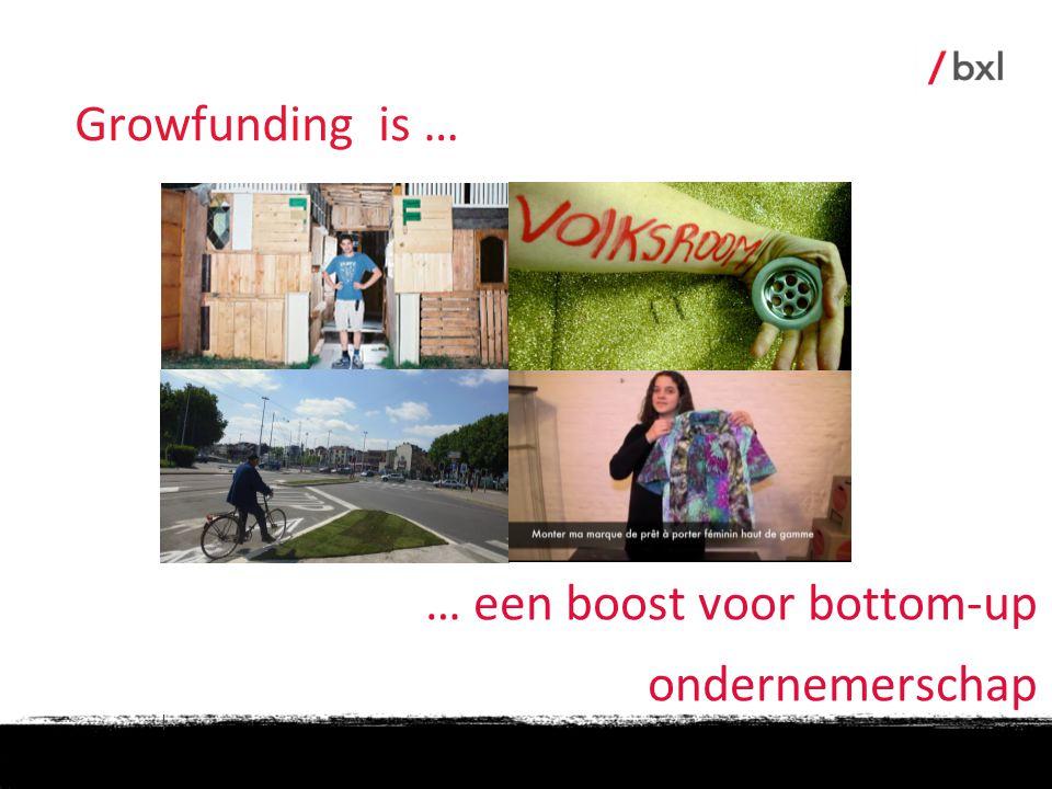 | … een boost voor bottom-up ondernemerschap Growfunding is …