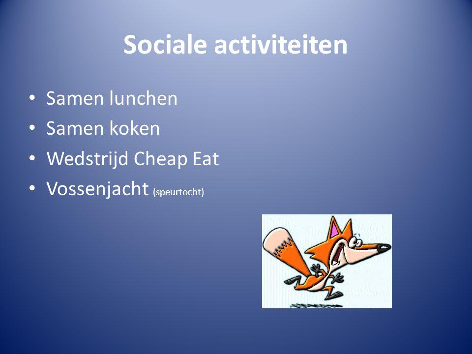 Sociale activiteiten Samen lunchen Samen koken Wedstrijd Cheap Eat Vossenjacht (speurtocht)