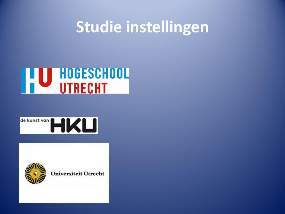 Studie instellingen