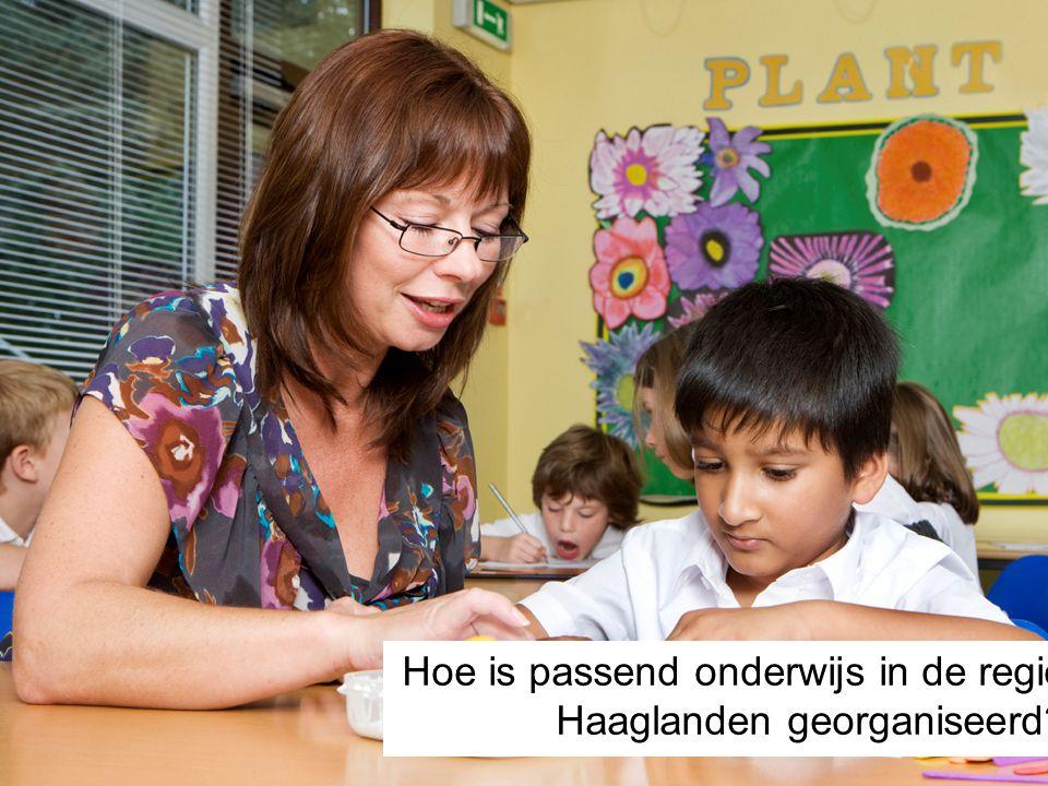 Hoe is passend onderwijs in de regio Haaglanden georganiseerd?
