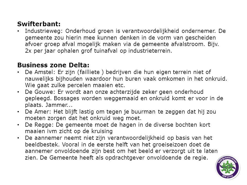 Swifterbant: Industrieweg: Onderhoud groen is verantwoordelijkheid ondernemer.