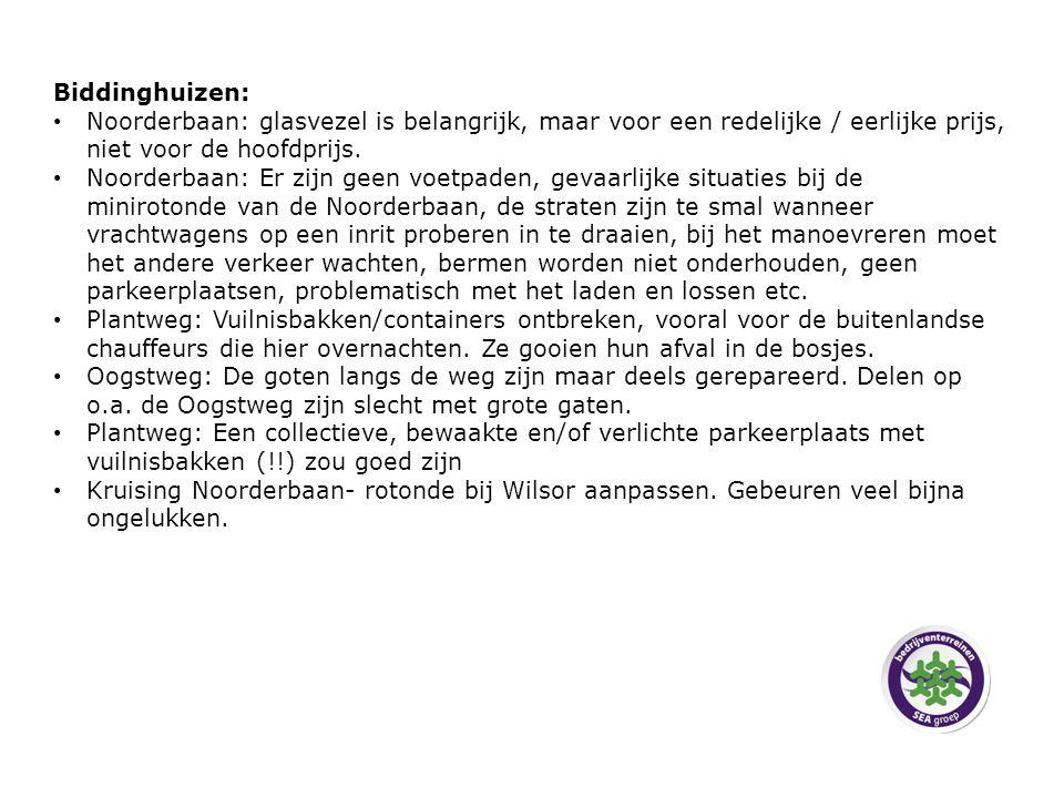 Biddinghuizen: Noorderbaan: glasvezel is belangrijk, maar voor een redelijke / eerlijke prijs, niet voor de hoofdprijs.