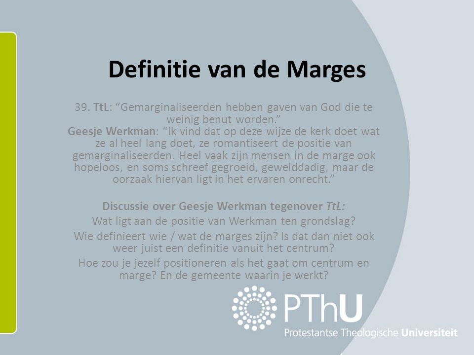 Definitie van de Marges 39.