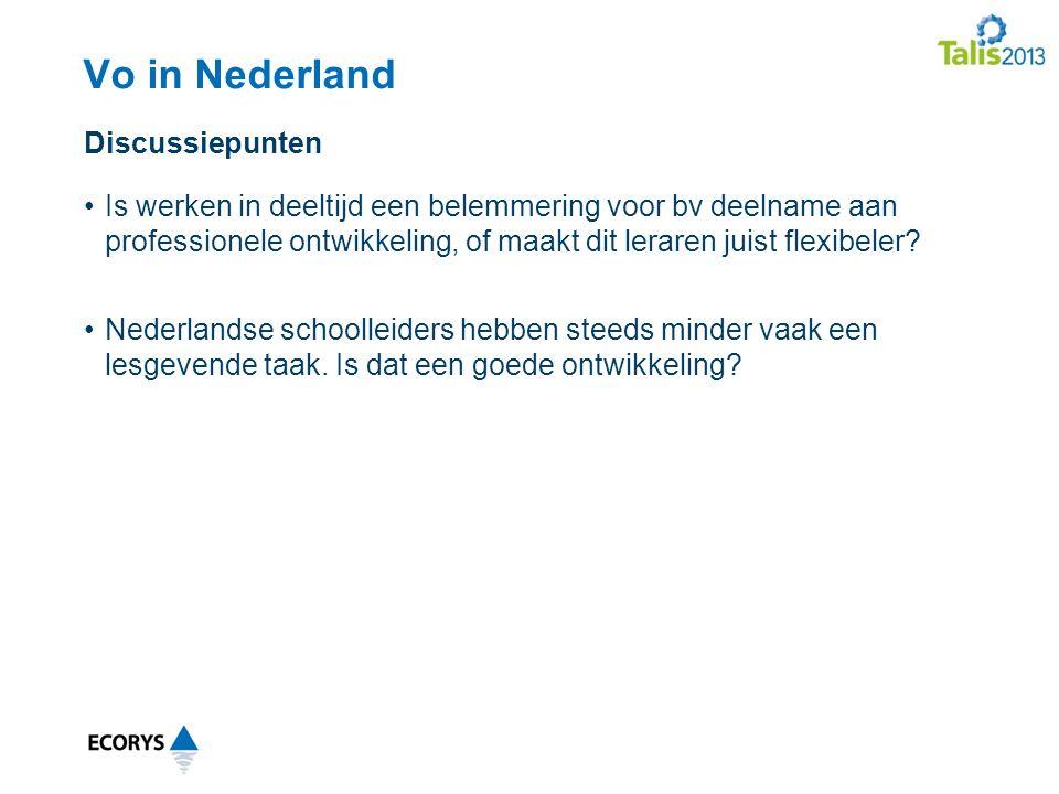 Vo in Nederland Is werken in deeltijd een belemmering voor bv deelname aan professionele ontwikkeling, of maakt dit leraren juist flexibeler.