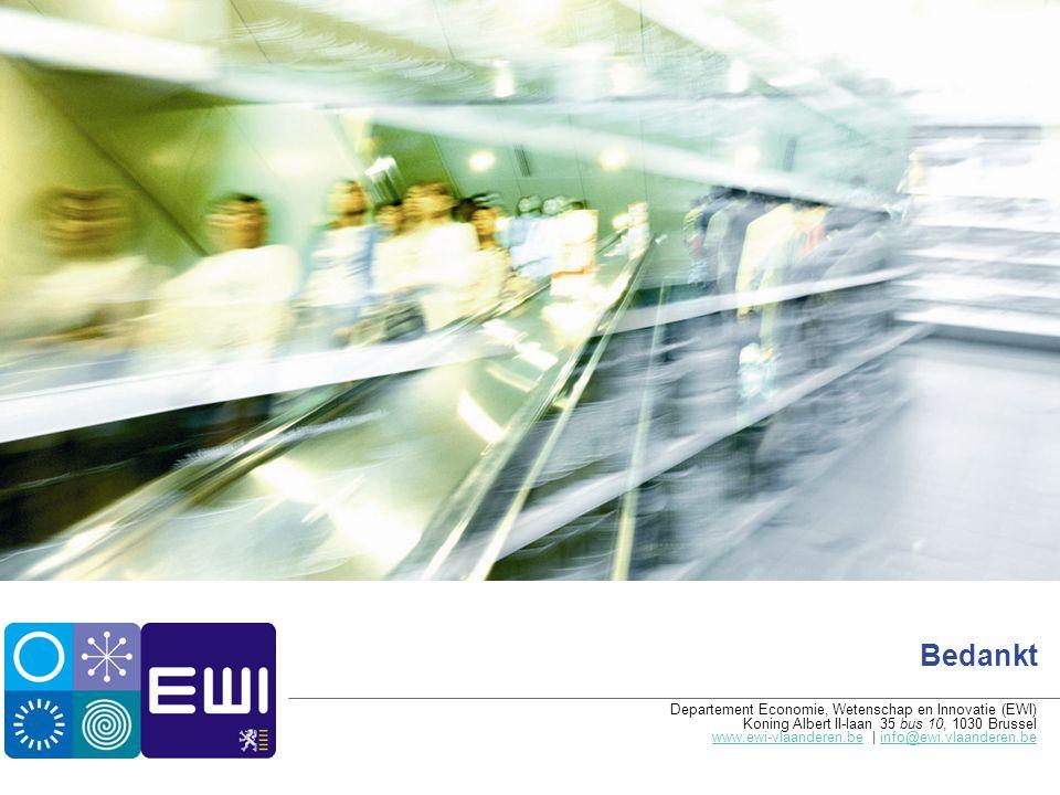 Bedankt Departement Economie, Wetenschap en Innovatie (EWI) Koning Albert II-laan 35 bus 10, 1030 Brussel www.ewi-vlaanderen.bewww.ewi-vlaanderen.be |
