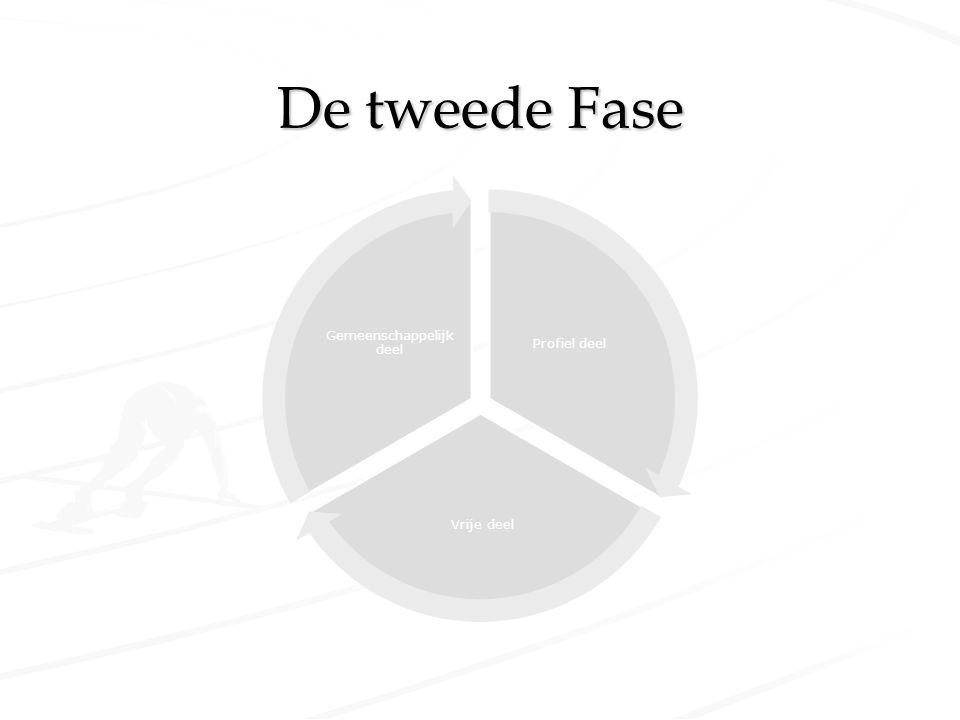 De tweede Fase Profiel deel Vrije deel Gemeenschappelijk deel